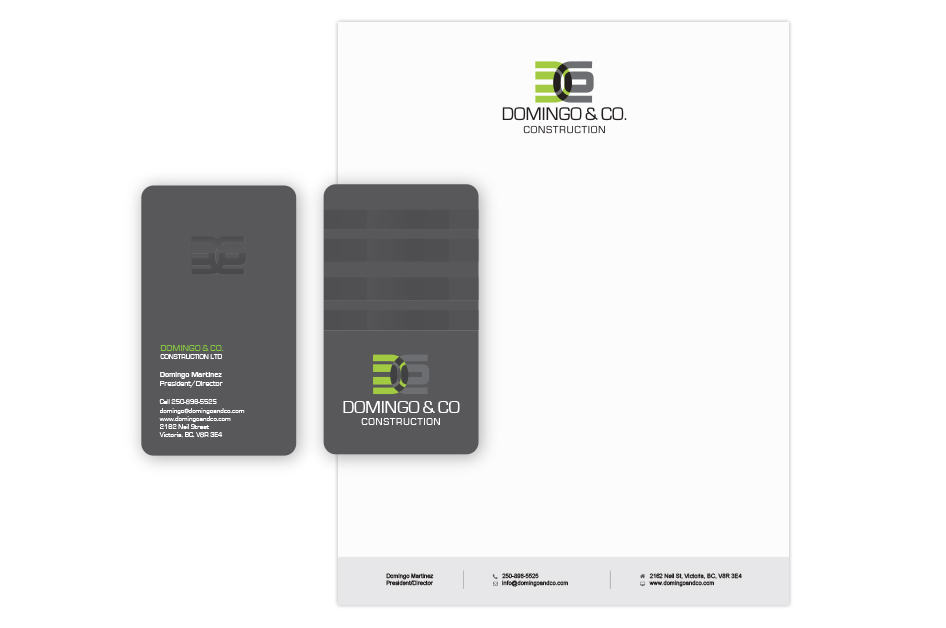 Business Card Design for Construction Companies