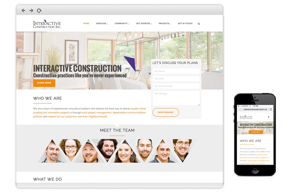 Website Design for Construction Companies