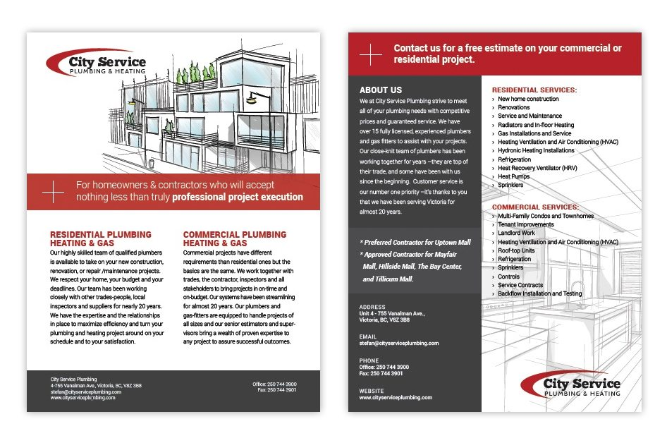 Brochure Design for Plumbing Companies